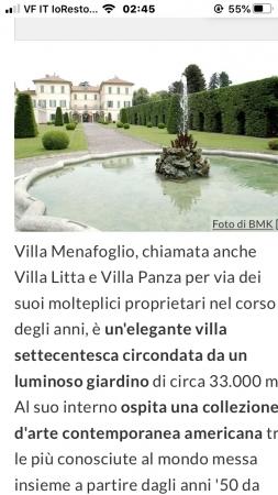 Villa Panza con museo di Arte Moderna