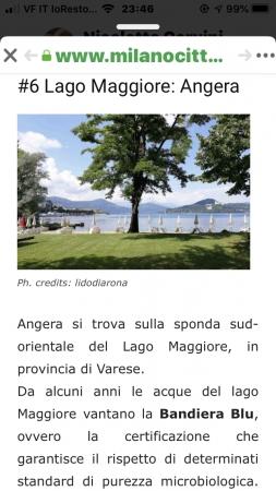 Angera e le sue spiaggette sul lago Maggiore
